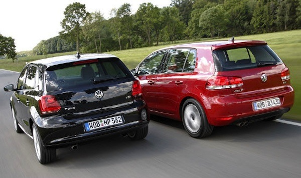 The VW Golf is distant leader at 38860 sales and 3.6%, and the VW Polo is
